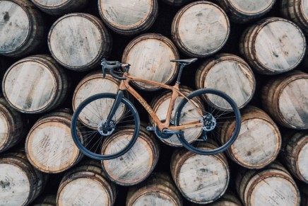 The world's first bicycles made from whisky casks