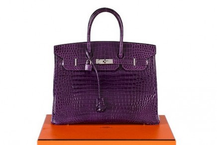 An amethyst Birkin estimated at £22,000 is leading Sotheby's Hermès Handbags sale
