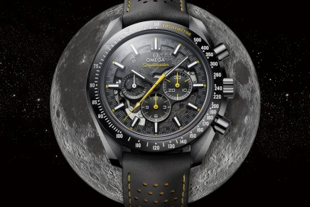 The lunar surface is brought to life in Omega's newest Speedmaster