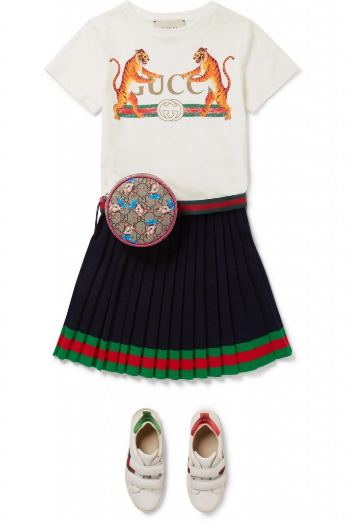This pleated skirt is perfect for introducing Gucci to a brand new generation
