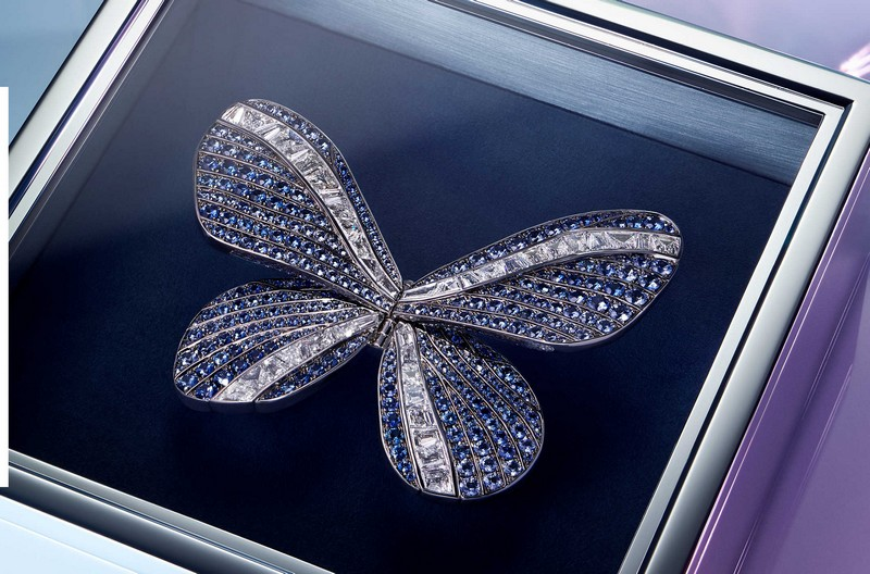 Tiffany Jewel Box 2019 - An homage to the traditional butterfly form - Flight Brooch