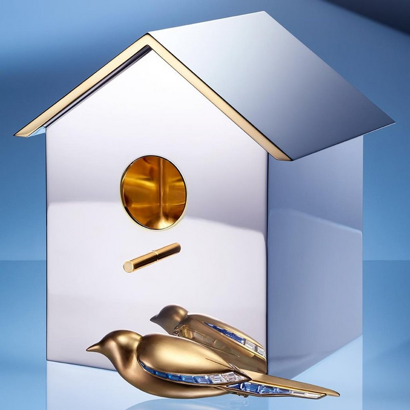 Tiffany Jewel Box 2019 - whimsical sterling silver and 24k gold vermeil birdhouse