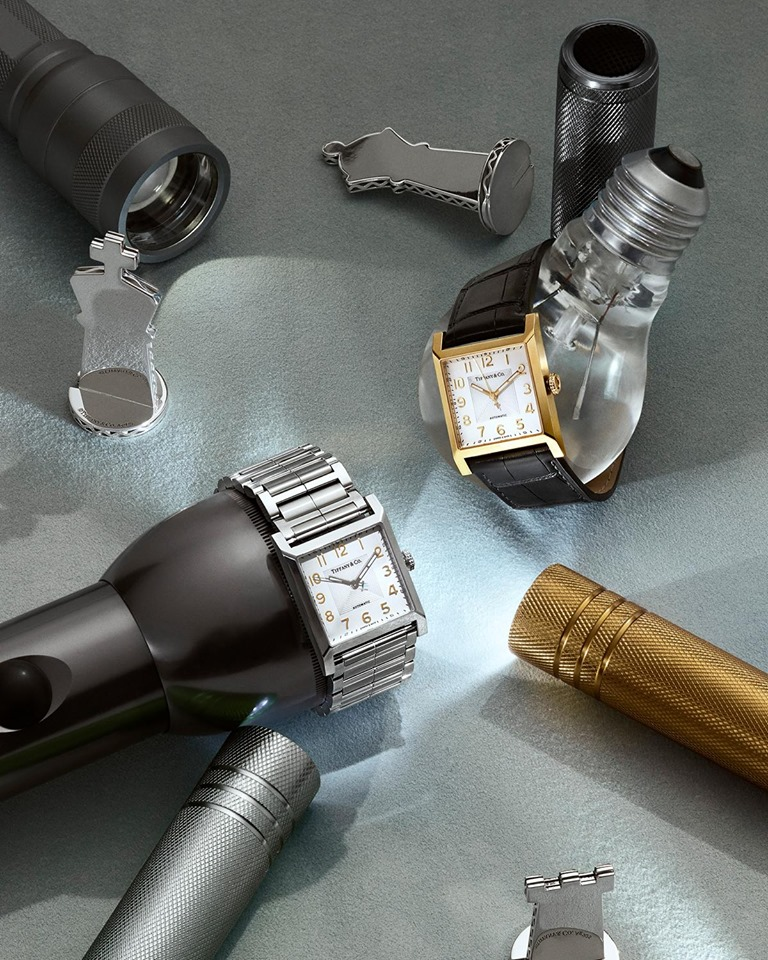 Tiffany Men's collection, featuring Tiffany 1837 Makers 27 mm square watches