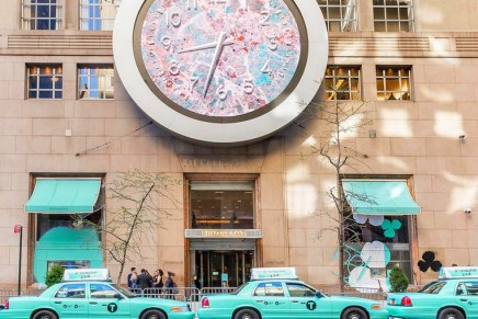 """Tiffany Paper Flowers"" explores a bright Tiffany Blue New York"