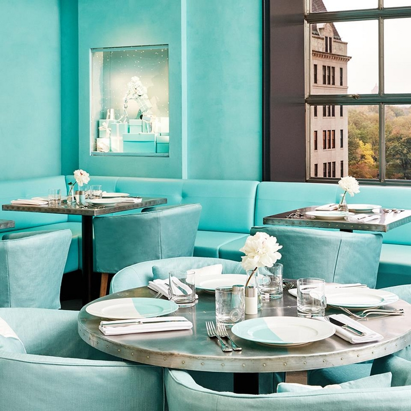 Tiffany & co opens The Blue Box Cafe for those who have always dreamed of having Breakfast at Tiffany.