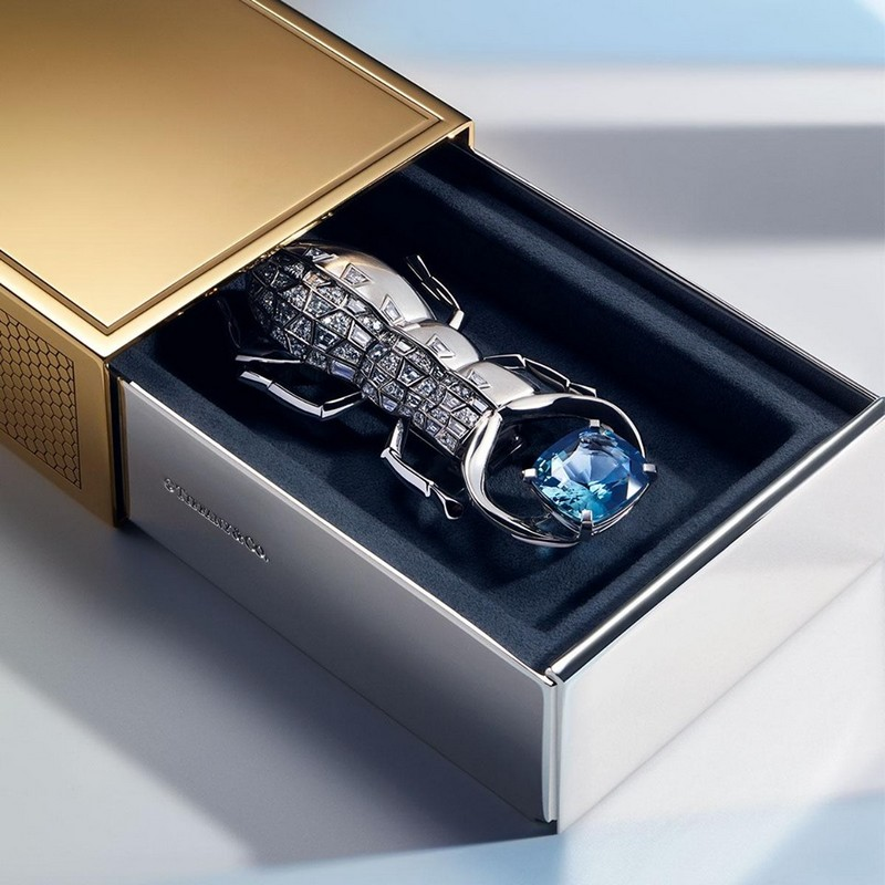 Tiffany&Co Blue Box - the diamond-encrusted scarab with spectacular blue spinel of over 7 carats