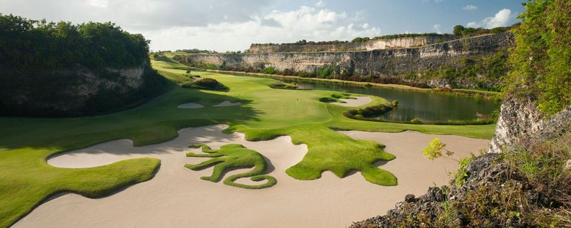 Tom Fazio-designed Green Monkey Course, carved from old limestone rock quarry in Barbados