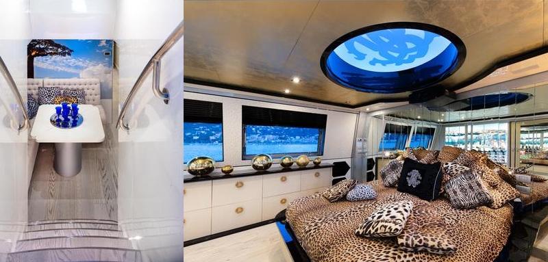 Tommaso Spadolini unveils Roberto Cavalli's new yacht 28m MY Freedom - interior 3