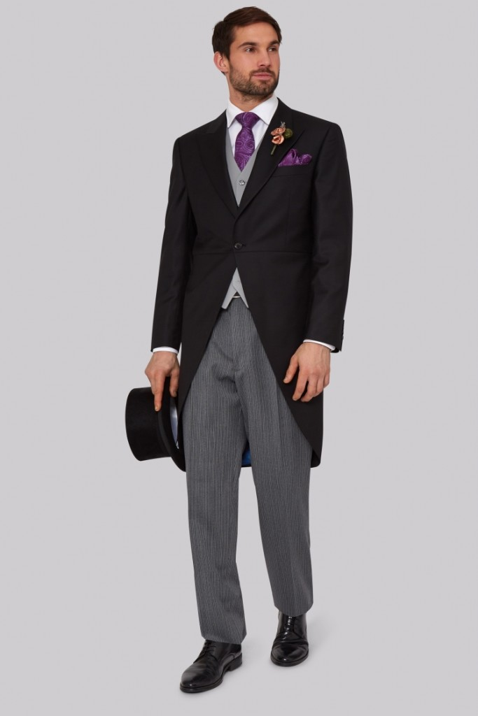 Top suit considerations for Royal Ascot - 2017 - Moss Bros Royal Ascot Regular Fit Three Piece Morning Suit