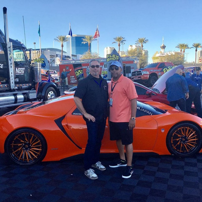 Trion CEO, Rich Patterson and Trion CMO, Gene Langmesser at the semashow