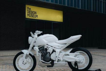 New Triumph Trident Design Prototype Revealed at the London Design Museum