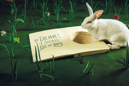 How do you make a rabbit disappear into a notebook? Tumble down the rabbit hole in Alice in Paperland
