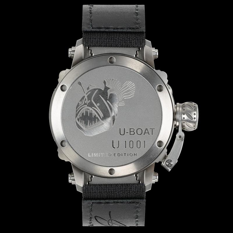 U-Boat 47 U-1001 TIT diving watch with titanium case and helium escape valve