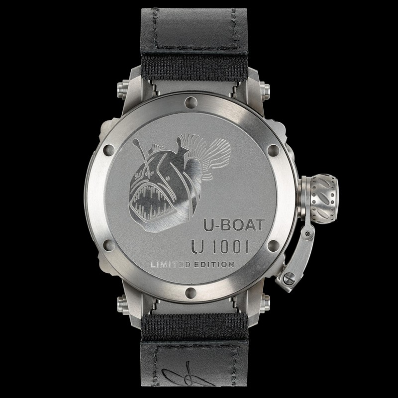 U-Boat 47 U-1001 TIT diving watch with titanium case and helium escape valve