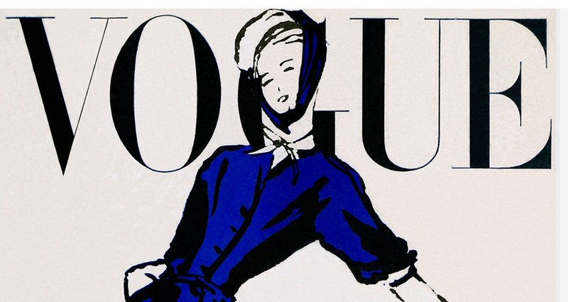 US Vogue Cover for Christian Dior new Look
