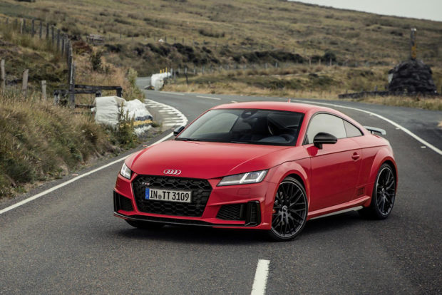 Updates for the TT and TTS include a standard seven-speed S tronic dual-clutch transmission