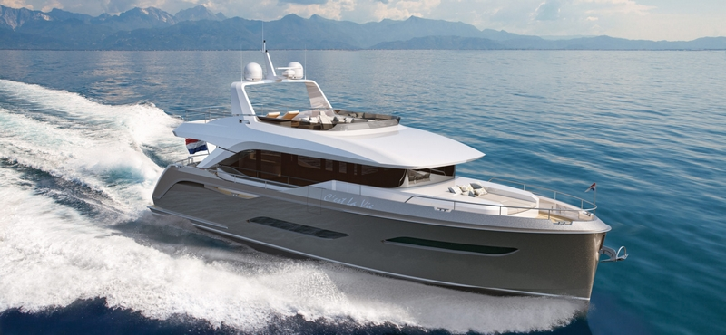 VOYAGER 61 yacht on sea