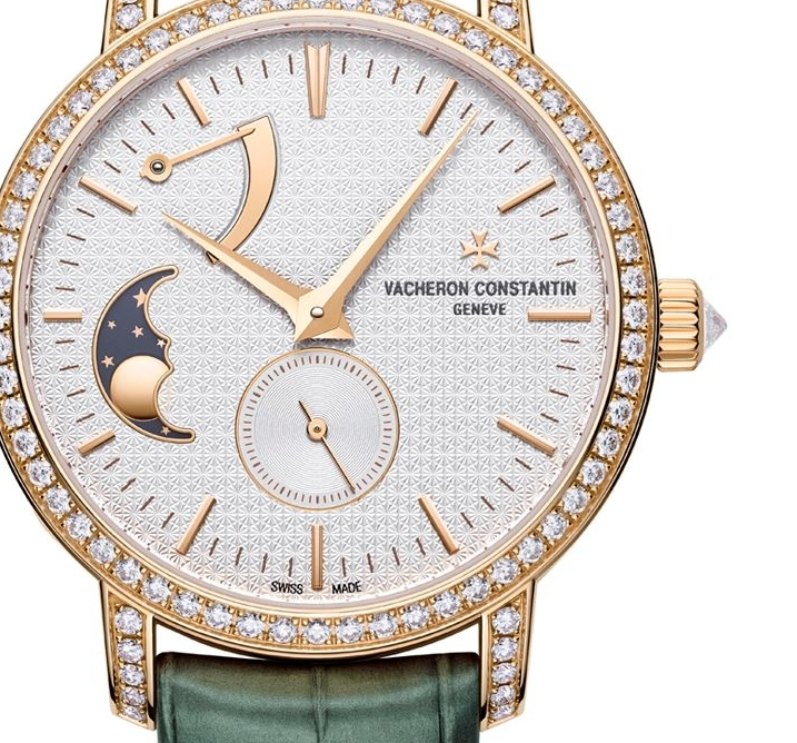 Vacheron Constantin Rose Gold and Diamond Traditionnelle x Harrods Moonphase Watch 36mm-