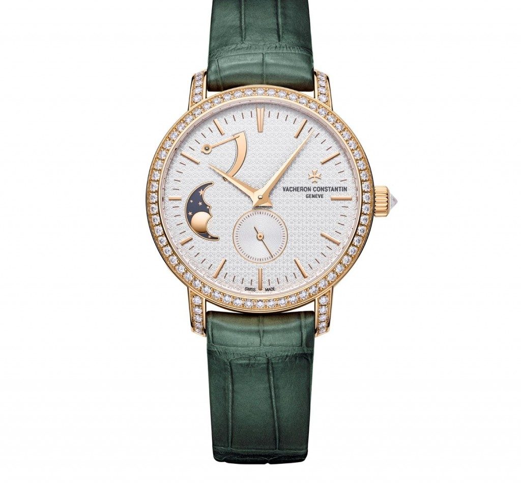 Vacheron Constantin Rose Gold and Diamond Traditionnelle x Harrods Moonphase Watch 36mm