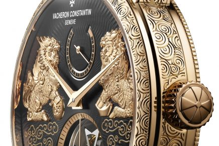 The Qilin highly symbolic creature deploys fantastic powers at the heart of Vacheron Constantin Traditionnelle Tourbillon