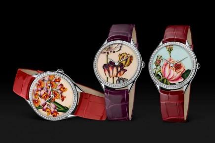 Three new Métiers d'Art Florilège jewellery watches