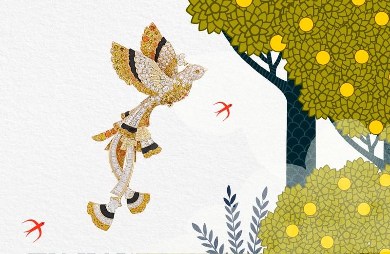 Van Cleef & Arpels Golden Bird - Quatre Contes de Grimm, the new High Jewelry collection