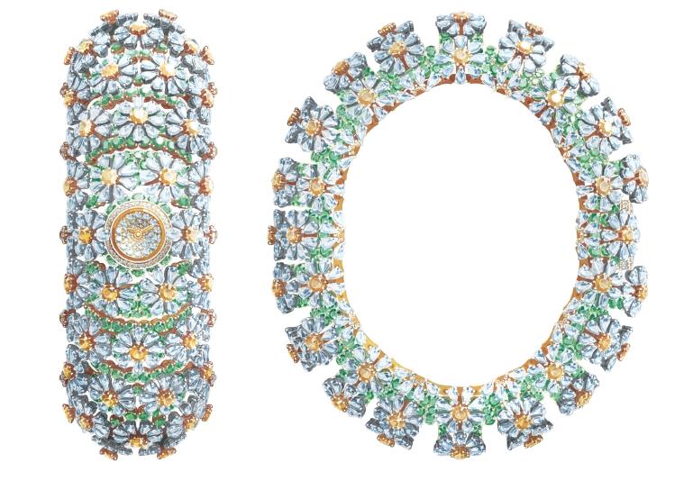 Van Cleef & Arpels Pâquerette watch - Unique piece