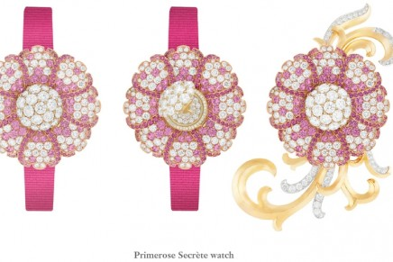 New Secret watches: Majestic flowers keep watch over time, revealing their secret with a brush of the fingers.