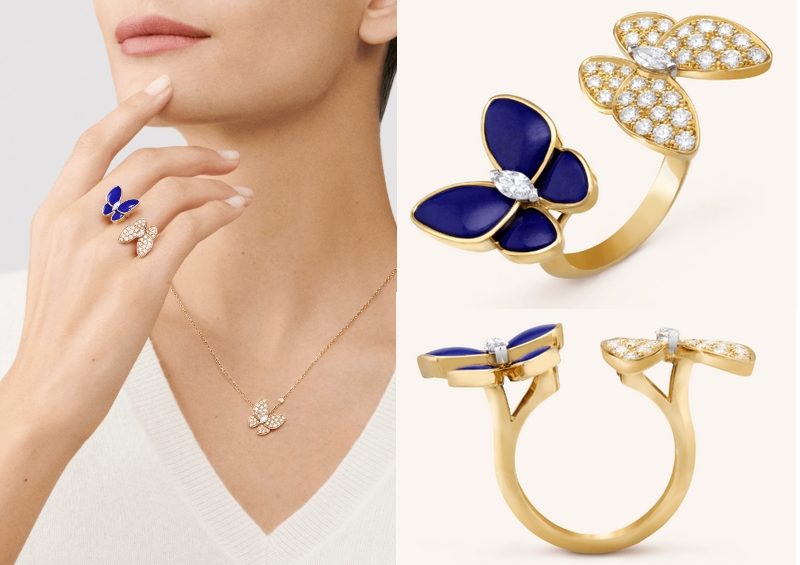 Van Cleef & Arpels Two Butterfly 2019 between the finger ring