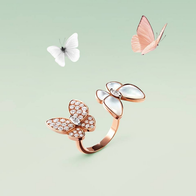 Van Cleef & Arpels Two Butterfly Between the Finger ring -