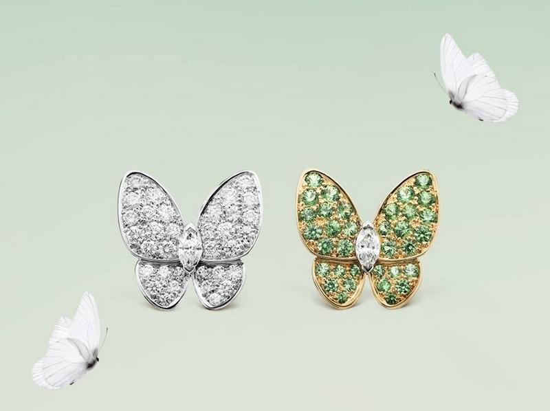 Van Cleef & Arpels Two Butterfly earrings