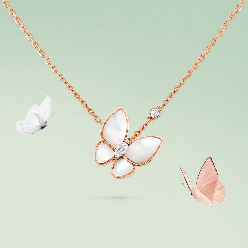 Van Cleef & Arpels Two Butterfly necklace