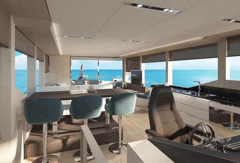 Van Den Hoven VOYAGER 61 yacht interior