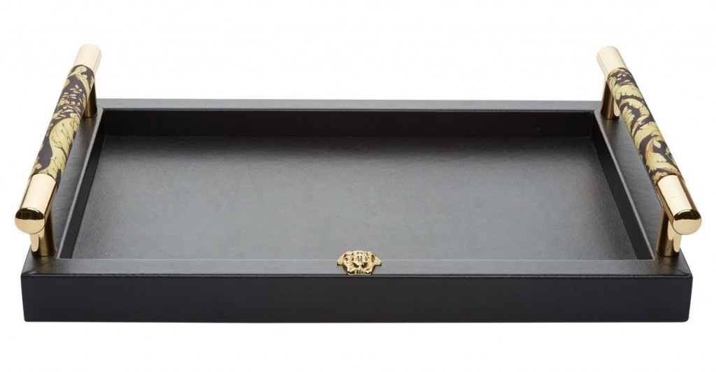 Versace Barocco Handled Tray with Medusa head logo