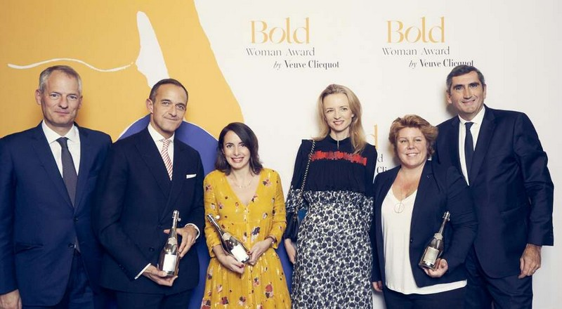 Veuve Clicquot presented Bold Woman Award to Chrystèle Gimaret and Bold Future Award to Julie Chapon
