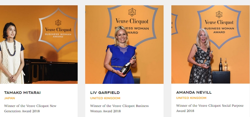 Veuve Clicquot presents Business Woman Award for 2018-Japan and United Kingdom