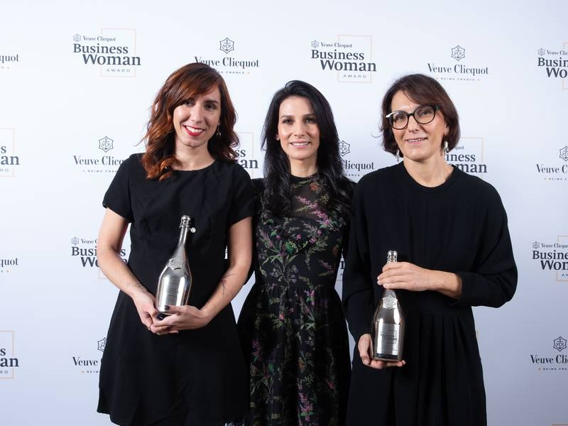 Veuve Clicquot presents Business Woman Award to Nathalie Balla and New Generation (Prix Clémentine) Award to Shanty Baehrel-