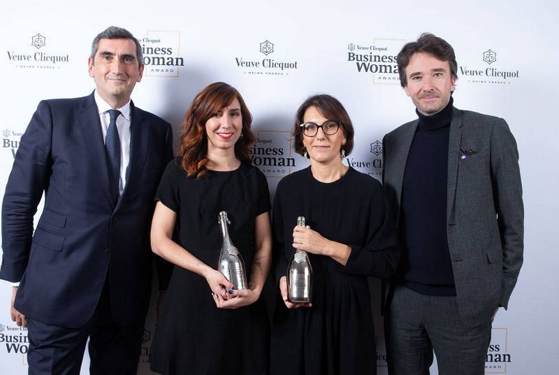Veuve Clicquot presents Business Woman Award to Nathalie Balla and New Generation (Prix Clémentine) Award to Shanty Baehrel