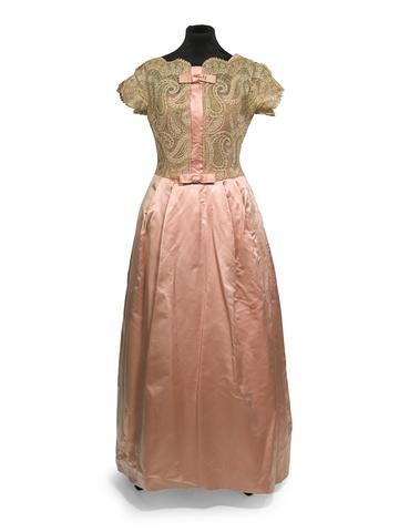 Victor Stiebel pink evening dress