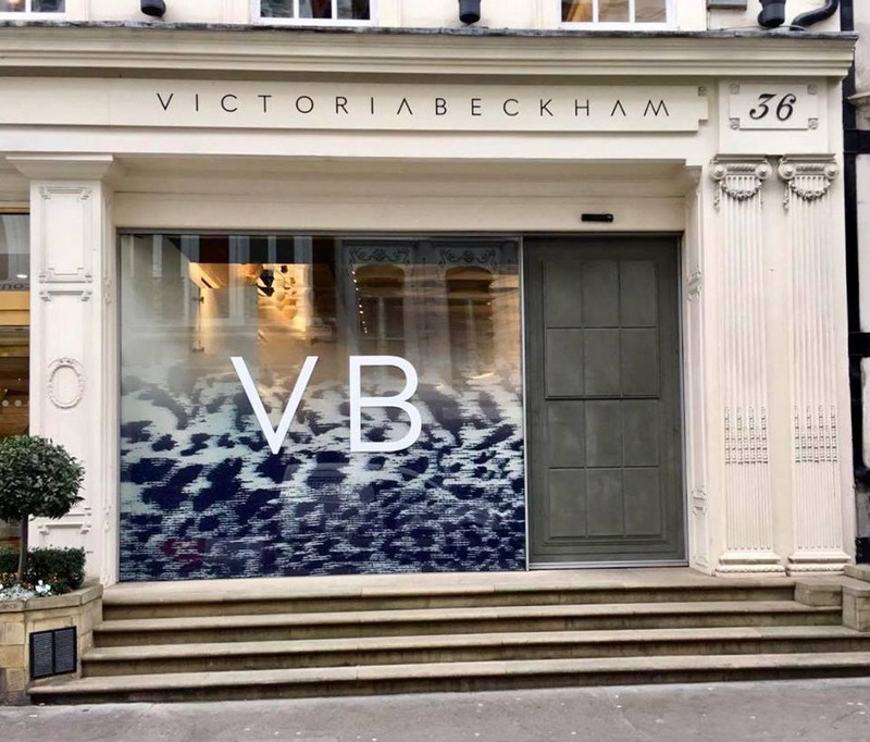 Victoria Beckham new prints and accessories at 36 Dover Street London