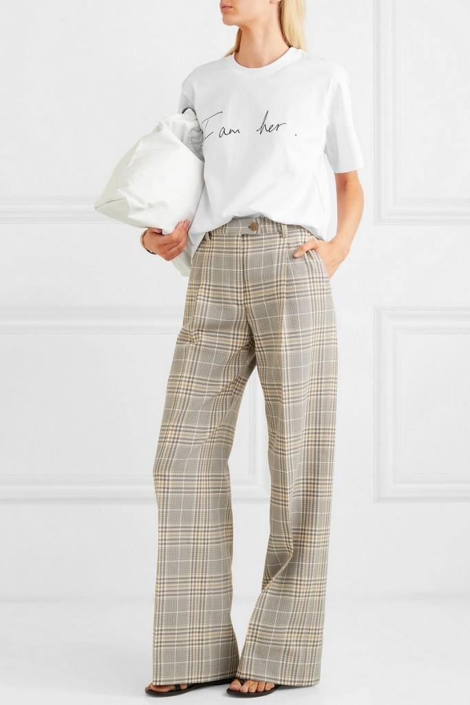 Victoria Beckham on net-a-porter - International Women's Day printed cotton-jersey T-shirt