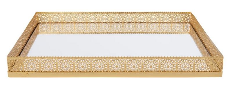 Villari Marbella Gold-Plated Medium Tray