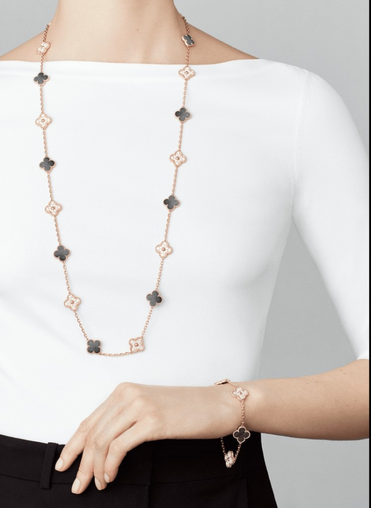 Vintage Alhambra long necklace, 20 motifs