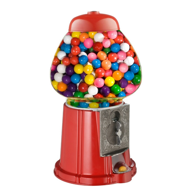 Vintage Candy Gumball Machine Bank