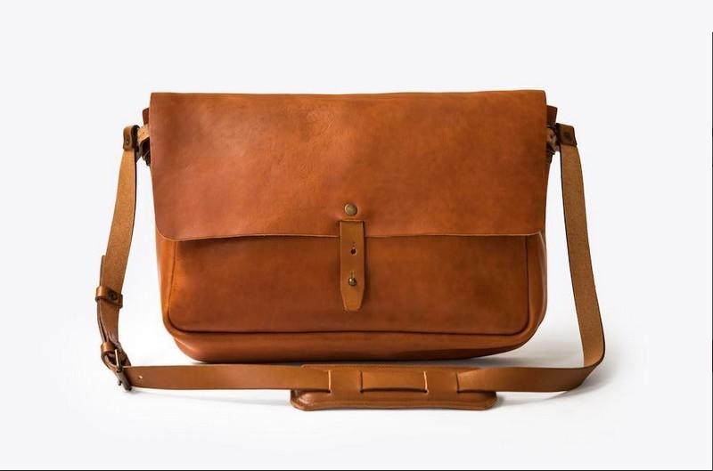 Vintage Leather Messenger Bag 2018