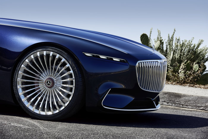 Vision Mercedes-Maybach 6 Cabriolet incorporates the classic proportions of art deco design - wheels