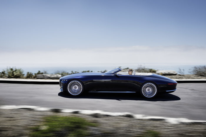 Vision Mercedes-Maybach 6 Cabriolet incorporates the classic proportions of art deco design