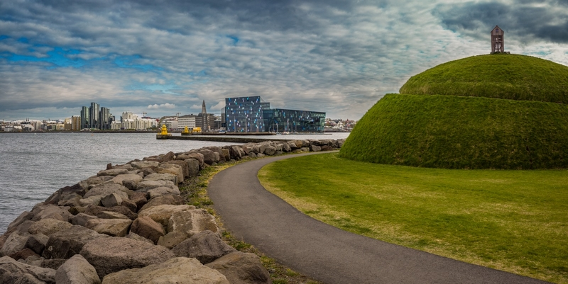 Visit Reykjavik - unique landmarks in Reykjavík with a great view of the city skyline, ocean and nearby mountains