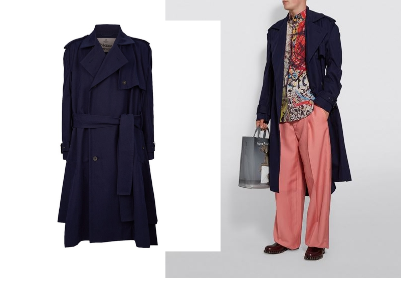 Vivienne Westwood Double-Breasted Oversized Trench Coat
