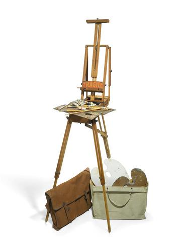 Vivien's canvas artist's bag and easel